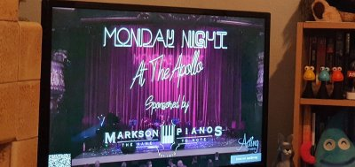 Watching Monday Night at the Apollo at home