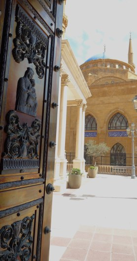 Examples of the religious mix: Looking at the mosque from the Catholic church