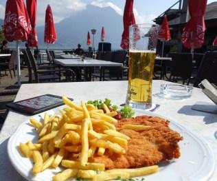 Wiener Schnitzel by the lake