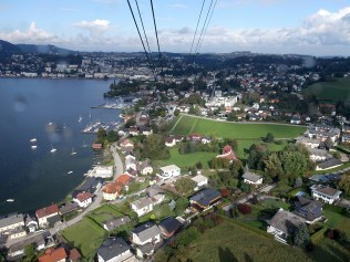 Looking down on Gmunden