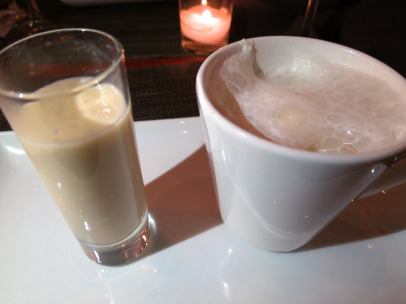 "Japanese Whiskey and Sake, Whiskey Cappacinno, ""Amasake"" Sweet Sake Soup"