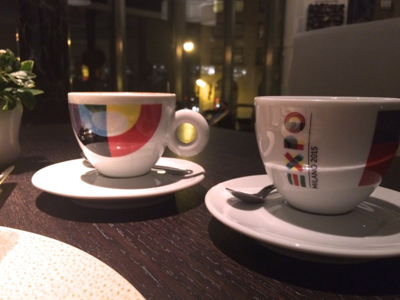 Coffee service at Spiaggia