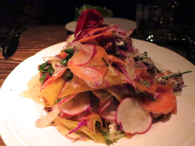 Shaved Vegetable Salad - Beets, carrots, apple, walnuts, bleu d'auvergne ($12)