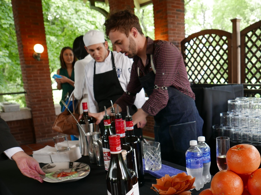 Tyler Fry of Violet Hour Amaro Braulio, St. George Terroir Gin, Punt e Mes, Lemon Juice and Saline Solution