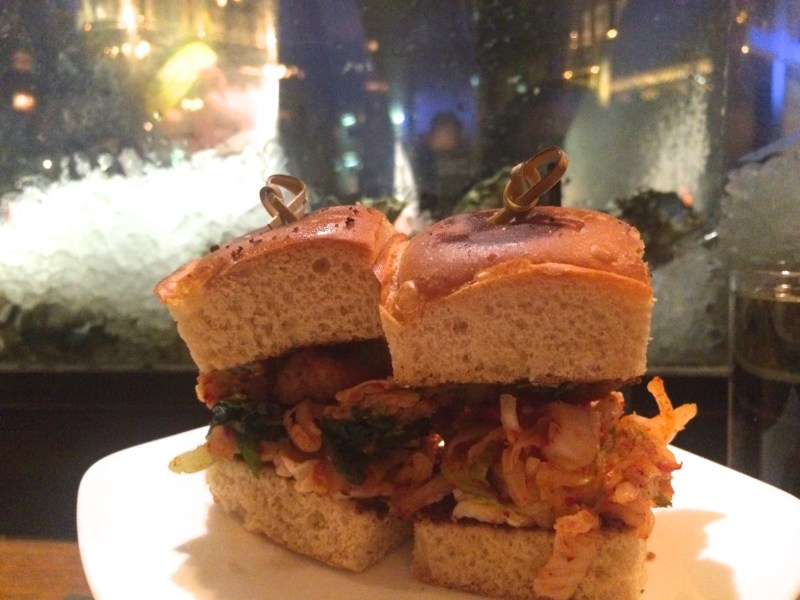 OYSTER PO'BOY SLIDER kimchi, peanut