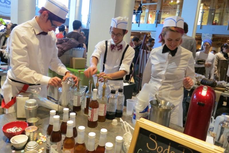 Soda jerks at Dose Market