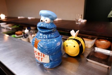 Cookie jars at The Catbird Seat