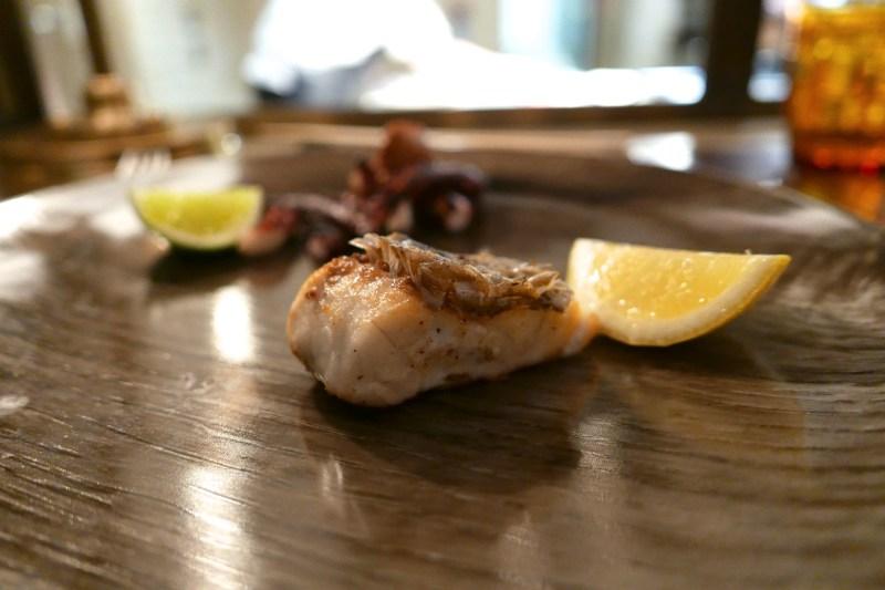 Crispy Madai (sea bream), lemon [Sumi Robata Bar]