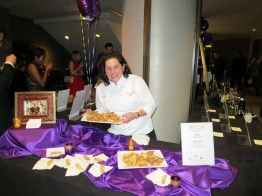 Amerena hazelnut biscotti by Jo-Marie Frigo of Nonna Santi's Biscotti at Grand Chefs Gala Nightcap