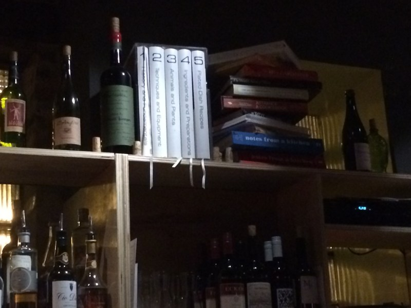 Bar shelf at Parachute