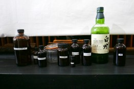 Some of the bottles used for the communal punch. But wait. There's more.