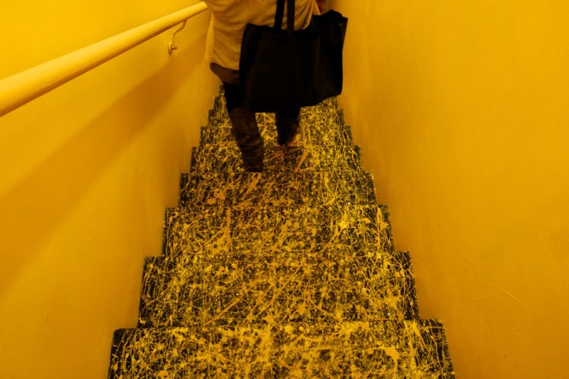Heading downstairs to start dinner