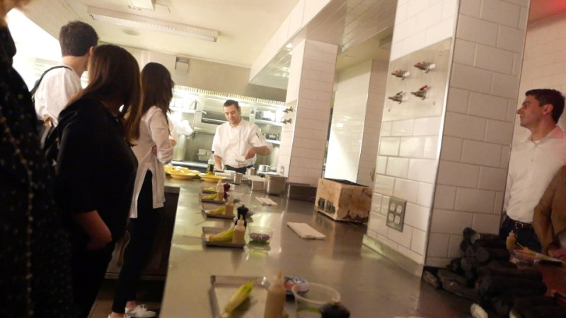 Next we were whisked into the kitchen and stood around the center counter.