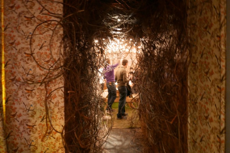The entrance to the final room of the evening.