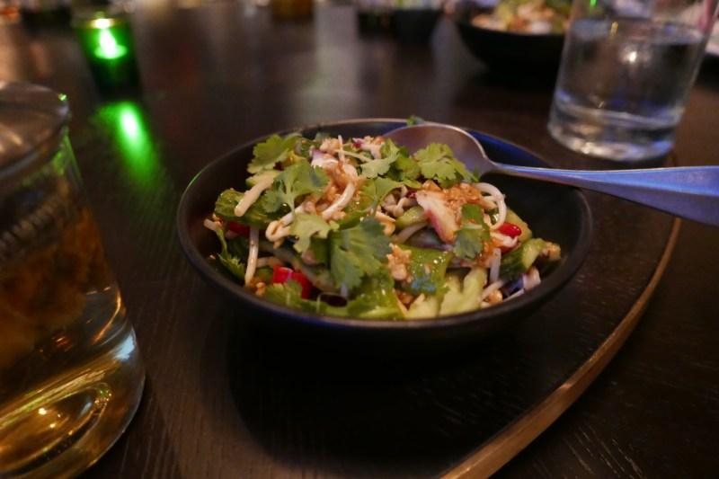 Octopus, Cucumber, Peanut Salad