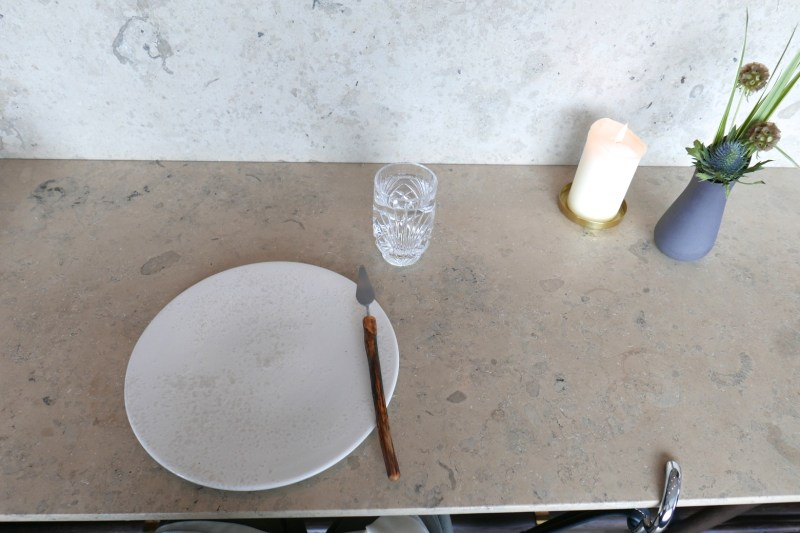 Table setting at Studio