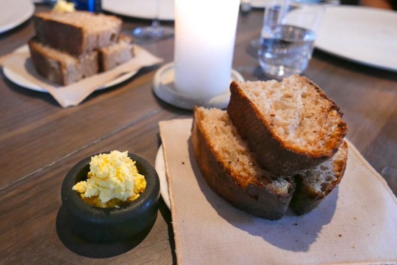 Sourdough bread, whipped virgin butter.