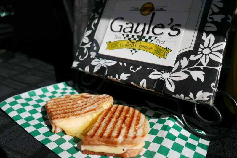 Gayle's Best Grilled Cheese Ever. ButterKase cheese, sourdough, butter.