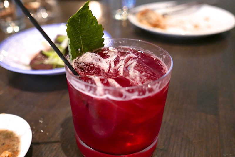 Hibiscus Cordial. (by HaiSous) Bourbon, orange, lemon, cinnamon