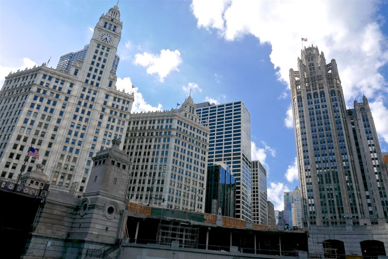Wrigley building, Tribune Tower