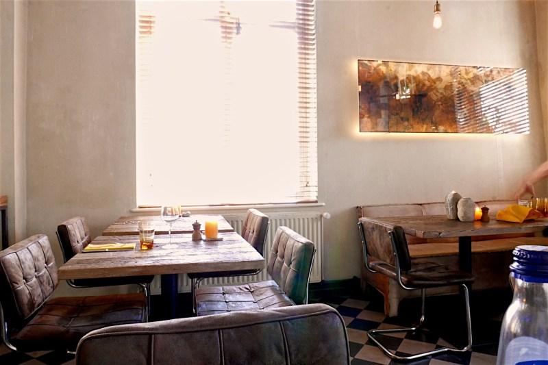Dining room at Bistro Bruut