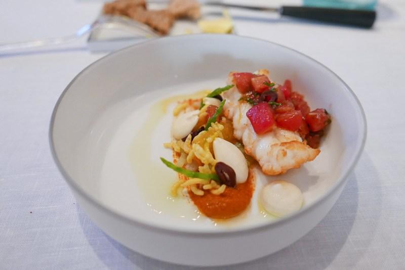 Langoustine 'Guilvinec,' tomato, sudachi, cucumber