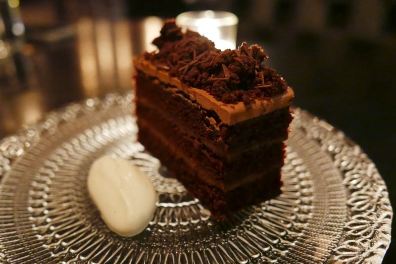 Chocolate Blackout Cake, Salted Cream, Fernet Branca