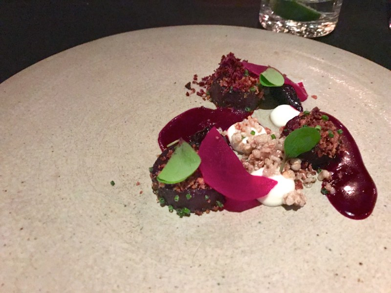Smoked Beets, buckwheat, sheep's milk yogurt, licorice