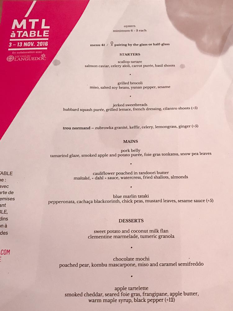 Lili.Co's Restauratnt Week menu