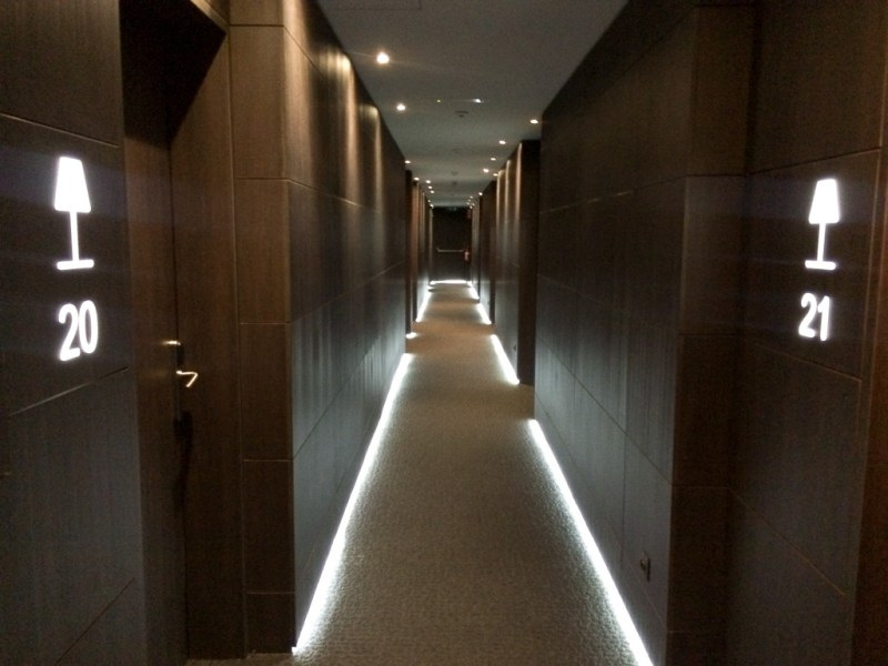 Now the hallway is lit up.
