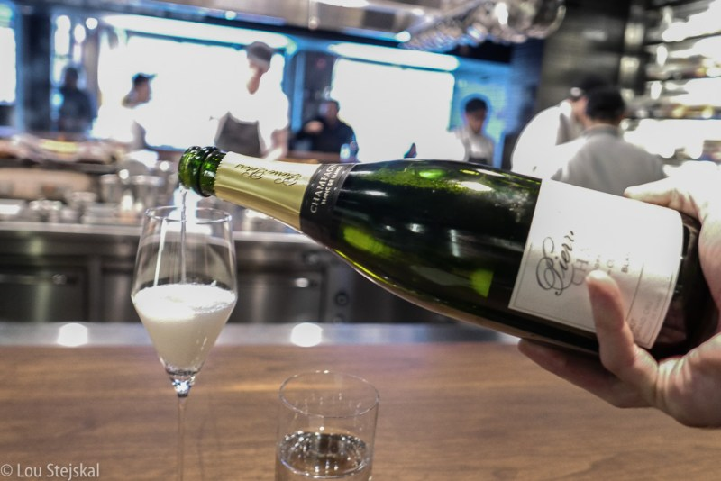 A very nice champagne greeting by Momofuku Ko
