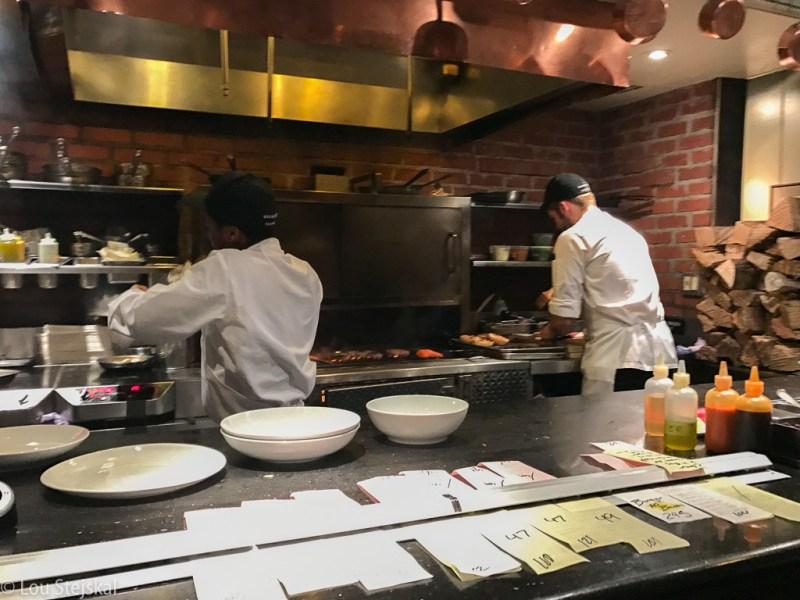 Open kitchen in bar area at Gramercy Tavern