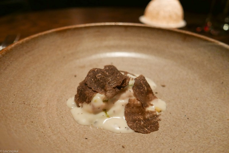 Lasagne of Marcho Farm Sweetbreads, spinach, black truffle