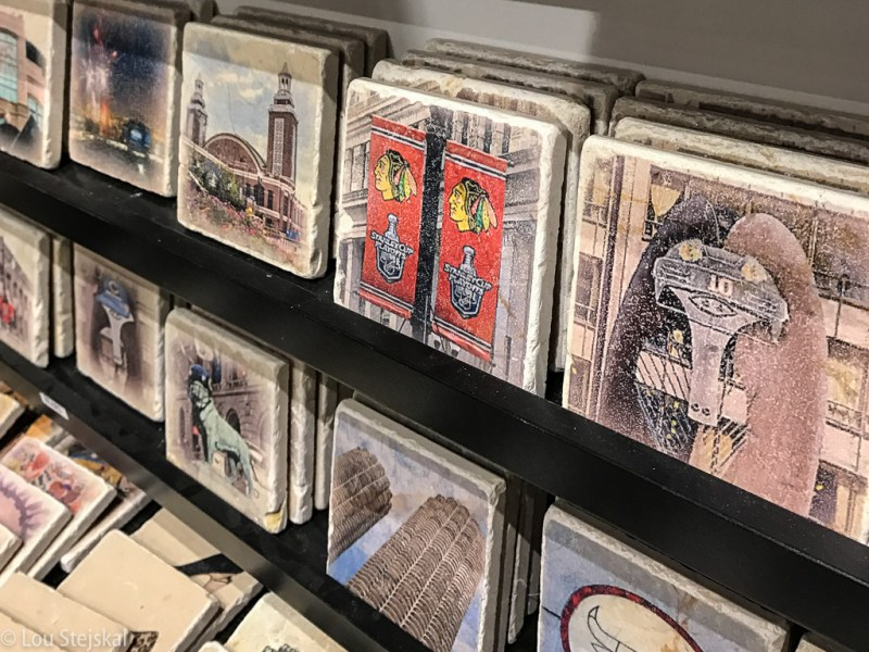 Tiles and trivets at Andersonville Galleria