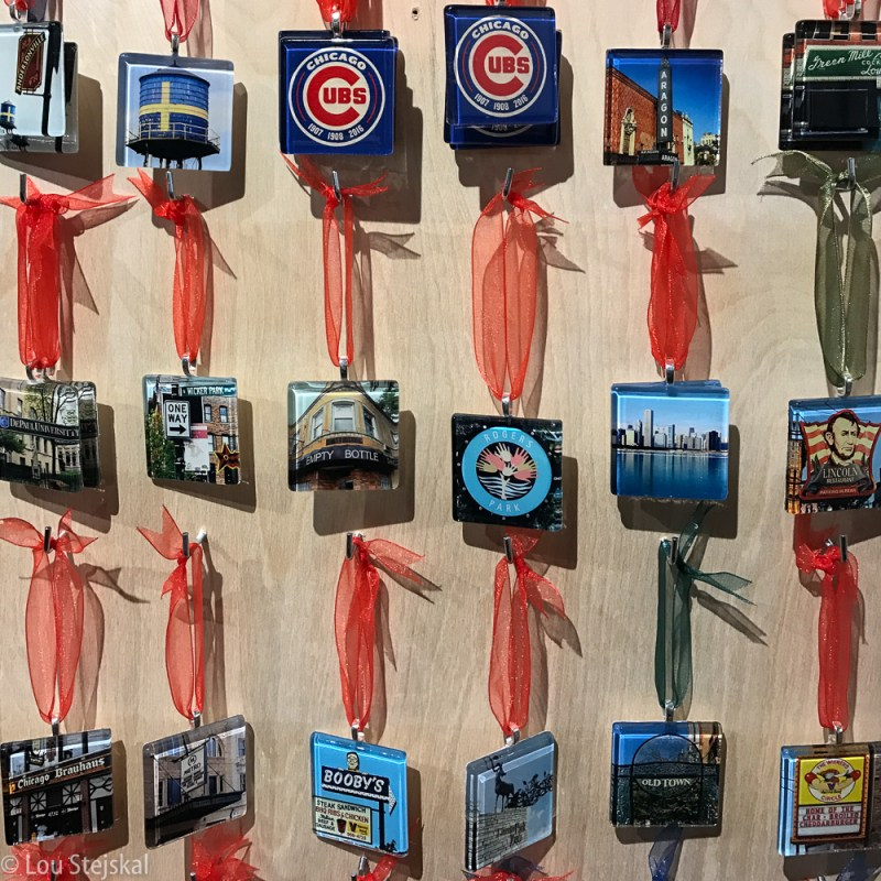 Chicago ornaments at Andersonville Galleria