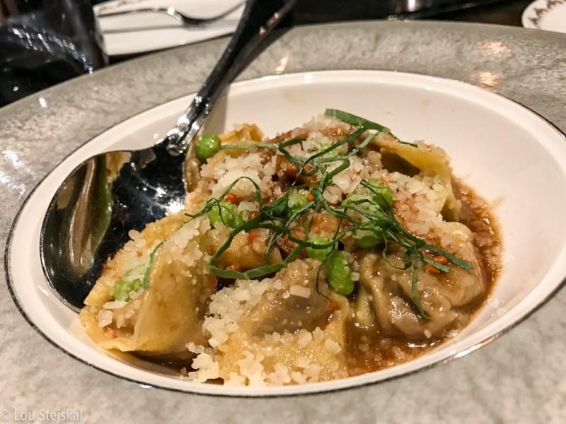 Short Rib Tortellini. Edamame, parmesan, basil, tripe ($16)