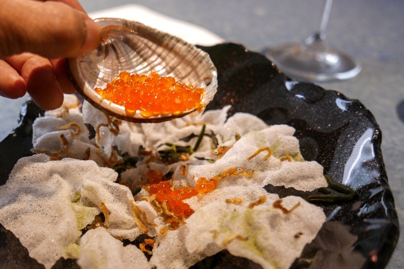 """Multipescadito Frito"" with Fresh Trout Roe"
