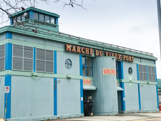 Marché du Vieux-Port indoor farmer's market