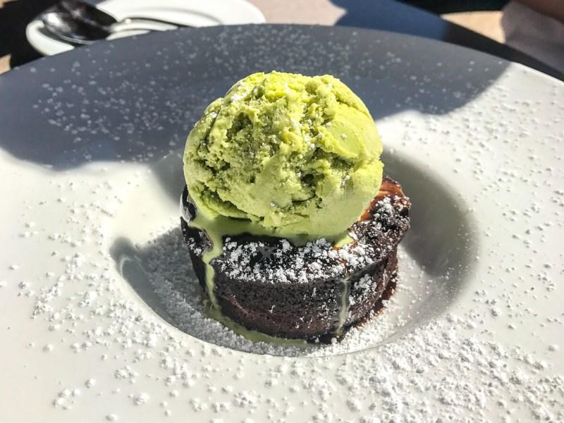 Molten Lava Cake, Matcha Ice Cream ($12.50)
