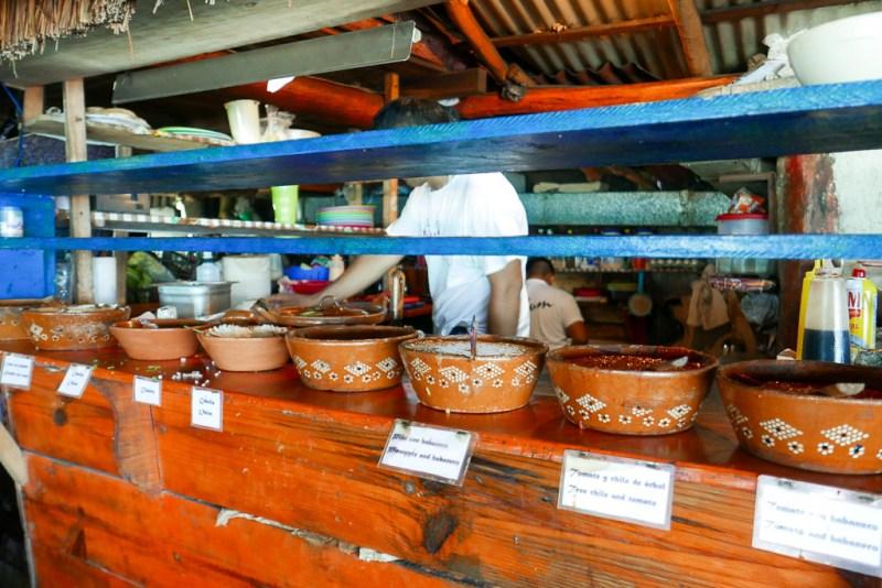 Toppings at Taqueria La Eufemia