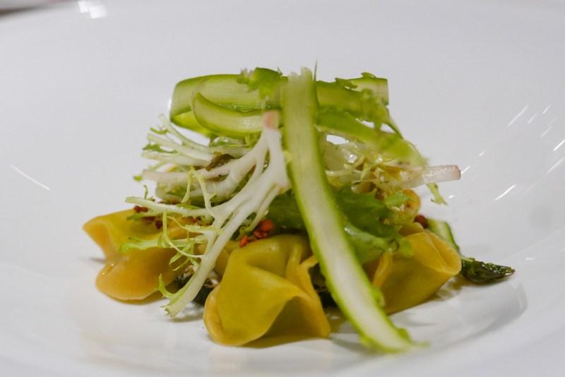 Asparagus cappaletti goat cheese, green garlic, pecans ($12)