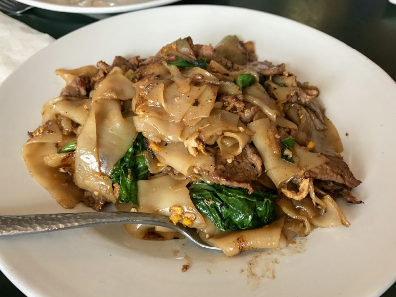 Beef Pad See Eiw Noodles, Egg, Chinese Broccoli ($10.95)