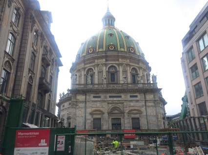 Frederik's Church, nicknamed The Marble Church was started in 1749.