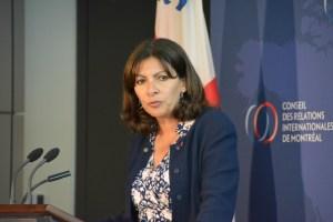 Anne Hidalgo en conférence au CORIM
