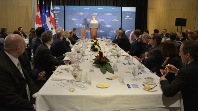 Marie-Anne Coninsx, ambassadrice de l'Union Européenne, en conférence au CORIM le 17 mars 2016