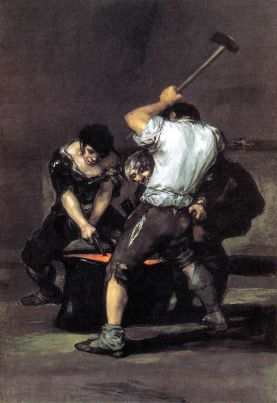 La Forge, Goya, huile sur toile, 1817, New York, Frick Collection