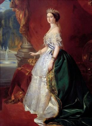 WINTERHALTER, Portrait de l'Impératrice Eugénie, 1853, huile sur toile, 242,5 X 159 cm, Paris, musée d'Orsay