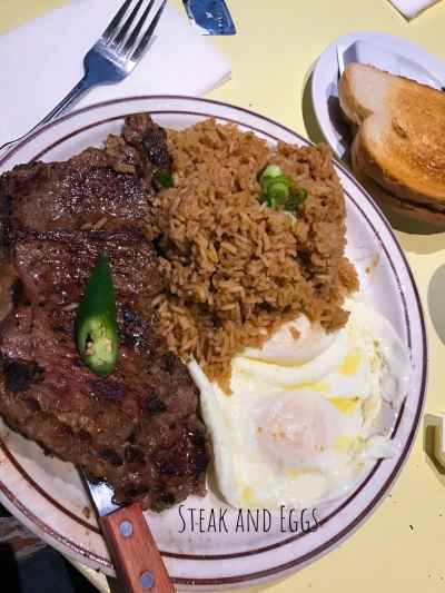 Uncle John's Cafe: The Ultimate American-Chinese Diner - Steak and Eggs