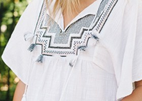 J.Crew Embroidered Tassel Tunic * J.Crew Sale * All White Outfits (1)