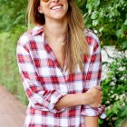 Red and Blue Plaid Shirt * Sam Edelman from Nordstrom * Fall Outfits
